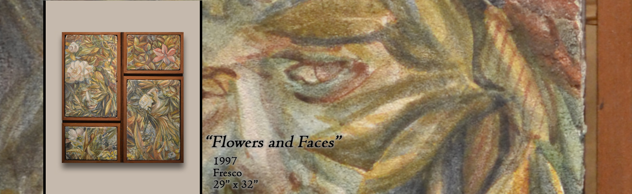 Fresco: Flowers and Faces
