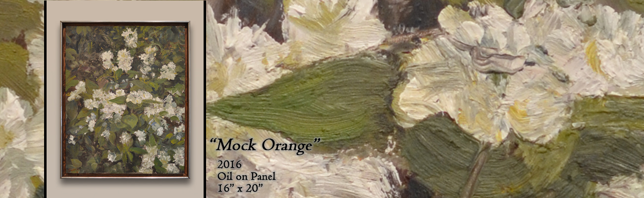 Oil Painting: Mock Orange